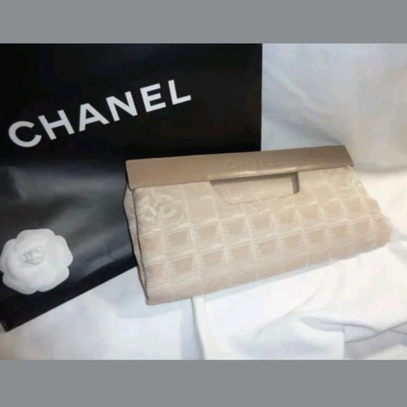 b22d7cacd490 CHANEL Bags | Rare Tan Jacquard Foldover Clutch Tote | Poshmark